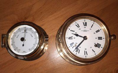 Nieuwe klok en barometer
